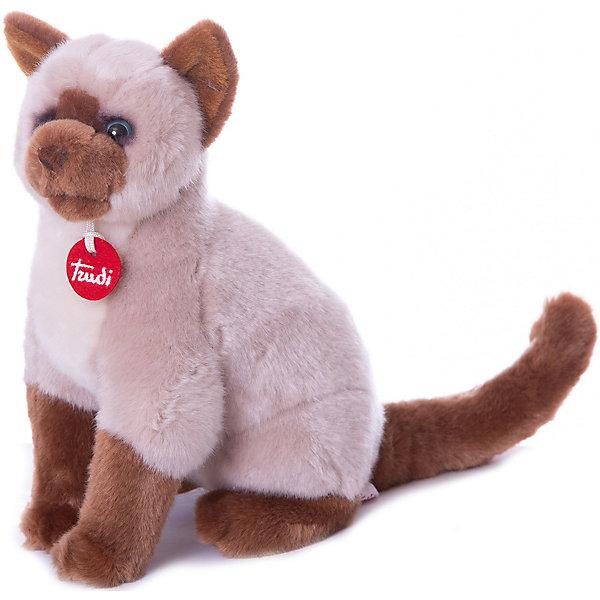 Мягкая игрушка Trudi Сиамская кошка Грета 31 см, сидячаяМягкие игрушки животные<br>Характеристики:<br><br>• возраст: от 1 года;<br>• материал: плюш, пластик;<br>• высота игрушки: 31 см;<br>• вес упаковки: 170 гр.;<br>• размер упаковки: 15х26х33 см;<br>• страна бренда: Италия.<br><br>Мягкая игрушка Trudi выполнена в виде дружелюбной кошечки с выразительными глазками. Игрушка невероятно приятна на ощупь, качественный плюш долго сохраняет первоначальный внешний вид. Изделие надежно прошито, подходит для машинной стирки при температуре 30 градусов.<br><br>Мягкие игрушки Trudi соответствуют высоким требованиям к качеству детских товаров. Сделано из безопасных материалов.<br><br>Мягкую игрушку Trudi «Сиамская кошка Грета», 31 см, сидячую можно купить в нашем интернет-магазине.<br>Ширина мм: 15; Глубина мм: 26; Высота мм: 33; Вес г: 170; Цвет: бежевый; Возраст от месяцев: 12; Возраст до месяцев: 2147483647; Пол: Унисекс; Возраст: Детский; SKU: 8420909;