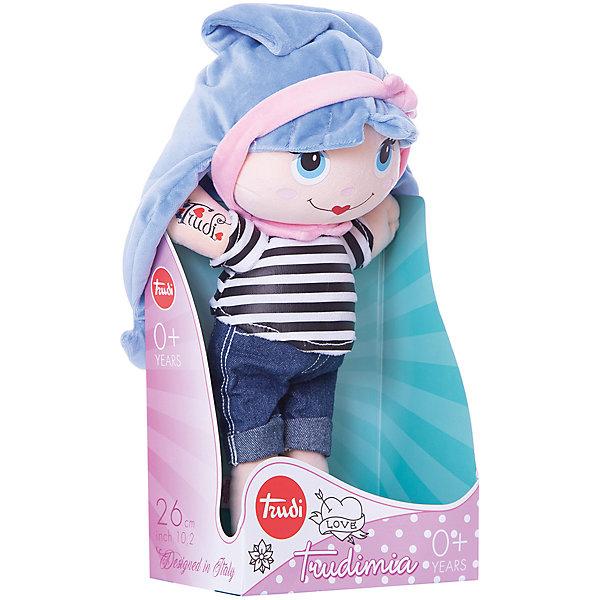 Trudi Мягкая кукла Trudi с синими волосами, 28 см цена