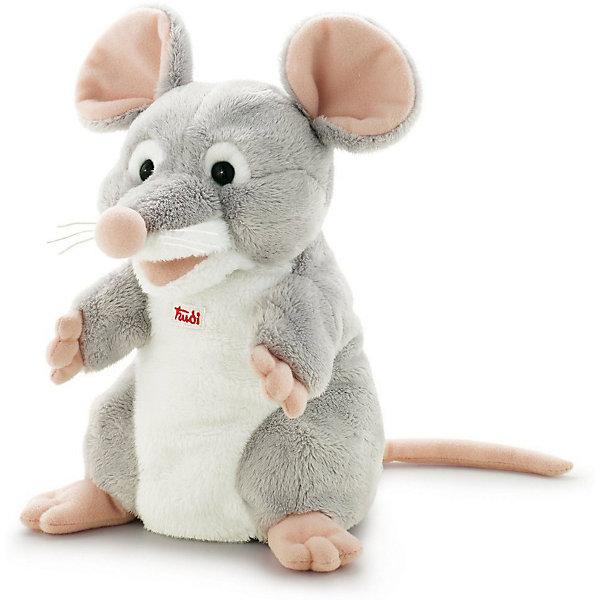 Trudi Мягкая игрушка на руку Trudi Мышка, 25 см трикси игрушка мышка плюш 17 см