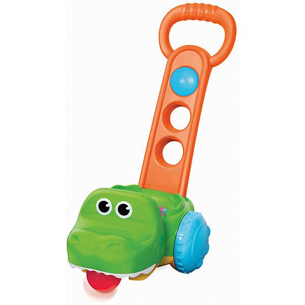 Infantino BKids Игрушка-каталка Bkids Крокодил с мячиками infantino bkids развивающий коврик с эффектами bkids
