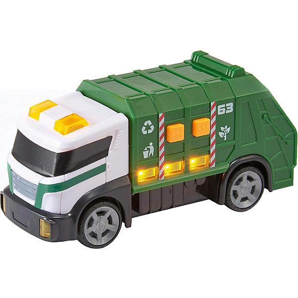 Машинка HTI Roadsterz Мусоровоз, 15 смМашинки<br>Характеристики:<br><br>• возраст: от 3 лет;<br>• материал: пластик;<br>• длина игрушки: 15 см;<br>• тип батареек: 3хААА;<br>• наличие батареек: в комплекте;<br>• вес упаковки: 670 гр.;<br>• размер упаковки: 9х18х11 см;<br>• страна бренда: Великобритания.<br><br>Мини-мусоровоз HTI Roadsterz имеет компактные размеры и реалистичный дизайн. Игру с мусоровозом сопровождают характерные звуки и световые эффекты. Корпус игрушки проработан, отдельные части тщательно прорисованы. Краски игрушки не теряют яркость со временем. Сделано из прочного качественного пластика.<br><br>Мини-мусоровоз Roadsterz 15 см (свет, звук) можно купить в нашем интернет-магазине.<br>Ширина мм: 9; Глубина мм: 18; Высота мм: 11; Вес г: 670; Цвет: зеленый; Возраст от месяцев: 36; Возраст до месяцев: 2147483647; Пол: Унисекс; Возраст: Детский; SKU: 8420978;
