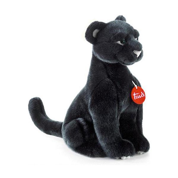 Купить Мягкая игрушка Trudi Пантера Ирис, 34 см, Китай, черный, Унисекс