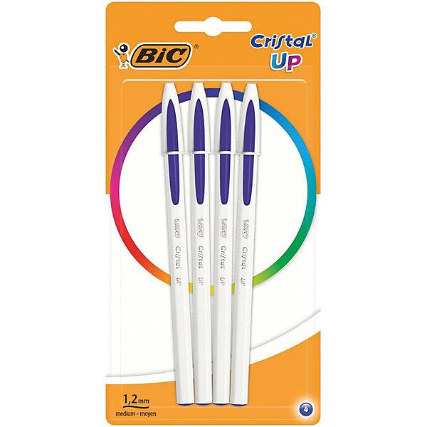 Ручка шариковая BIC «Cristal Up Fun», синийРучки<br>Характеристики: <br><br>• возраст: от 6 лет;<br>• тип ручки: шариковая;<br>• в комплекте: 4 ручки;<br>• цвет: синий;<br>• диаметр пишущего узла: 1,2 мм;<br>• толщина линии: 0,35 мм;<br>• тип упаковки: блистер;<br>• размер упаковки: 20х10х1,5 см;<br>• вес упаковки: 35 гр;<br>• страна бренда: Франция.<br><br>Традиционная ручка Cristal в новом ярком исполнении обеспечивает мягкое и яркое письмо. В представленном товаре чернила Easy Glide - это система скользящих чернил для более гладкого письма.<br><br>Оригинальное оформление корпуса. Цвет колпачка и наконечника соответствует цвету чернил. Серебристые буквы на корпусе – более премиальный вид ручки.<br><br>Ручка шариковая BIC «Cristal Up Fun» (БИК «Кристал Ап Фан»), синий можно купить в нашем интернет-магазине.<br>Ширина мм: 100; Глубина мм: 197; Высота мм: 10; Вес г: 35; Цвет: синий; Возраст от месяцев: 60; Возраст до месяцев: 2147483647; Пол: Унисекс; Возраст: Детский; SKU: 8422138;