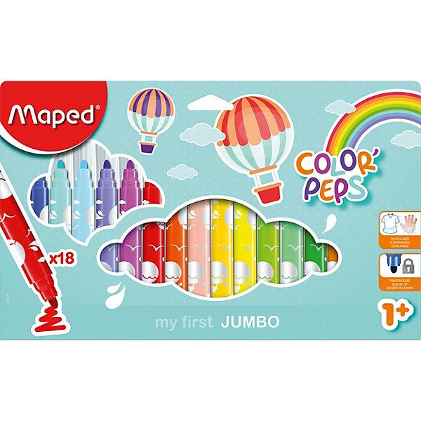 Купить Фломастеры макси Maped «Color' peps jumbo», 18 цветов, Малайзия, разноцветный, Унисекс
