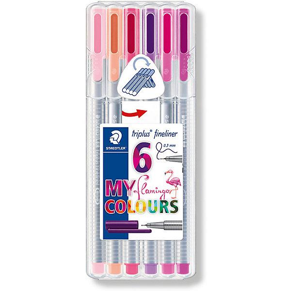 Staedtler Набор капиллярных ручек «Triplus fineliner», 6 цветов фламинго