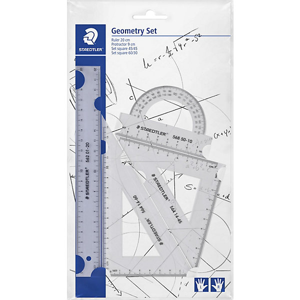 Купить Набор для геометрии Staedtler, 4 предмета, Таиланд, белый, Унисекс