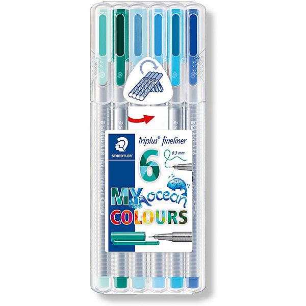 Staedtler Набор капиллярных ручек «Triplus fineliner», 6 цветов океана