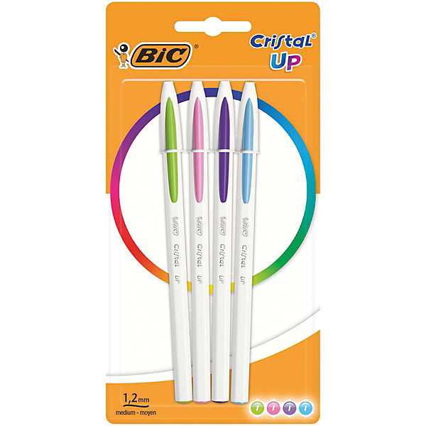 BIC Ручка шариковая BIC «Cristal Up Fun», 4 цвета bic ручка шариковая kids twist цвет корпуса синий