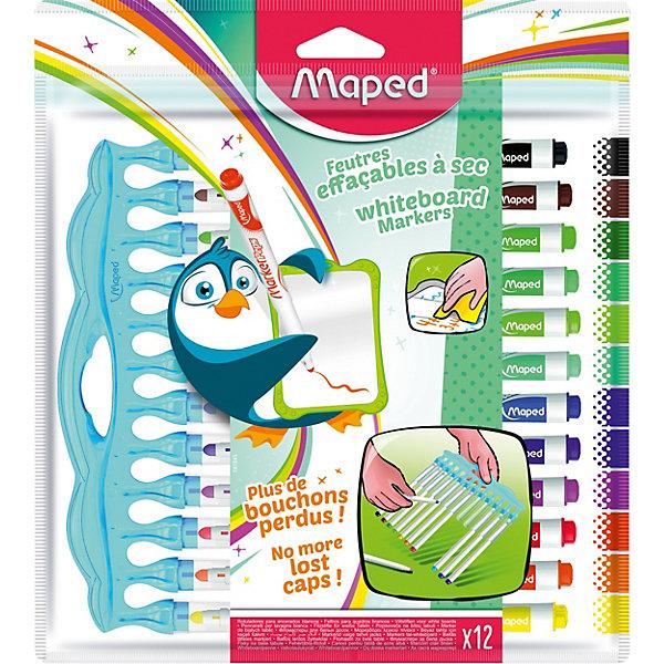 Маркеры для досок Maped, 12 цветовМаркеры<br>Характеристики: <br><br>• в комплекте: 12 маркеров;<br>• количество цветов: 12;<br>• тип маркера: стираемый;<br>• размер упаковки: 19х17х2 см;<br>• вес упаковки: 115 гр;<br>• страна бренда: Франция.<br><br>Маркеры Maped (Мэпед) для магнитно-маркерных досок , включающие 12 ярких и сочных цветов. После использования маркеров надписи и рисунки легко стираются даже после нескольких дней. Без запаха, разработаны специально для детей. <br><br>Колпачки интегрированы в мягкую, но прочную базу. В комплекте предусмотрен фирменный пенал для удобства хранения маркеров. Компактны: удобно помещаются в школьный рюкзак.<br><br>Маркеры для досок Maped (Мэпед), 12 цветов можно купить в нашем интернет-магазине.<br>Ширина мм: 238; Глубина мм: 215; Высота мм: 13; Вес г: 116; Цвет: разноцветный; Возраст от месяцев: 36; Возраст до месяцев: 2147483647; Пол: Унисекс; Возраст: Детский; SKU: 8422204;