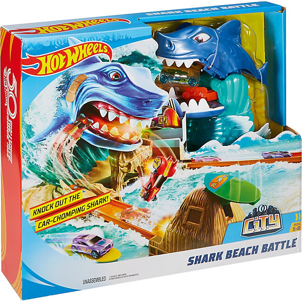 Mattel Игровой набор Hot Wheels Сити Схватка с акулой