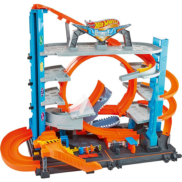 Mattel Автотрек Hot Wheels Сити Невообразимый гараж