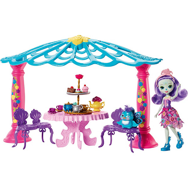 Mattel Набор с куклой Enchantimals Чаепитие Пэттер Павлины и Флэпа