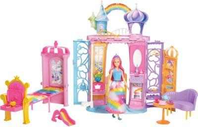 Barbie® Переносной радужный дворец, артикул:8422405 - Куклы и аксессуары
