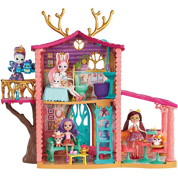 Mattel Набор с куклой Enchantimals Домик Данессы Оленни кукла enchantimals со зверушкой и тематическим набором fcc62 праздник фламинго