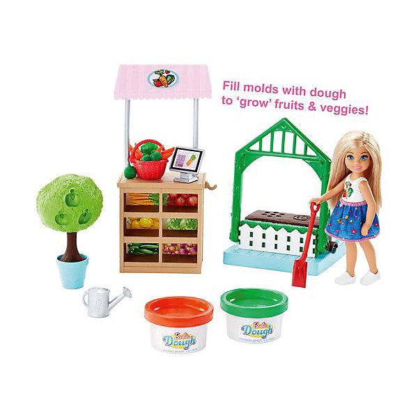 Mattel Игровой набор с куклой Barbie Овощной сад Челси игровой набор barbie mattel паровозик челси