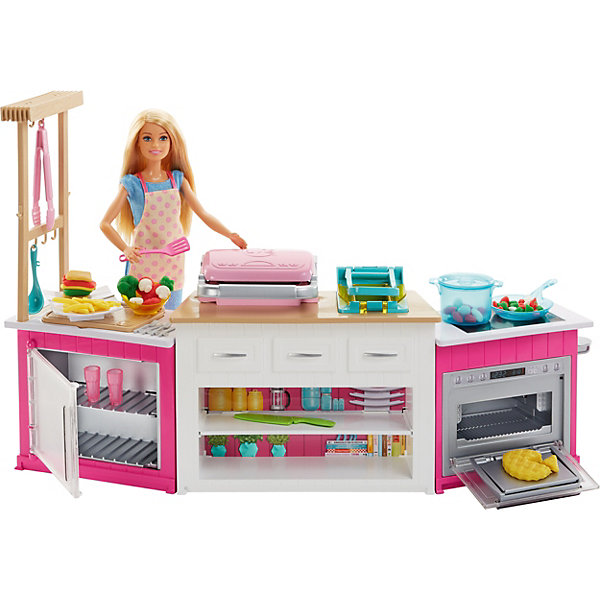Mattel Набор с куклой Barbie Супер кухня