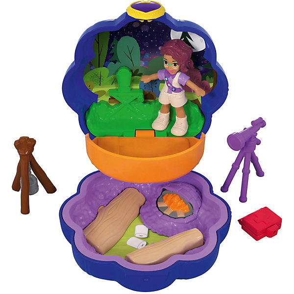 Mattel Игровой набор Polly Pocket Smart Stick, фиолетовый цветок