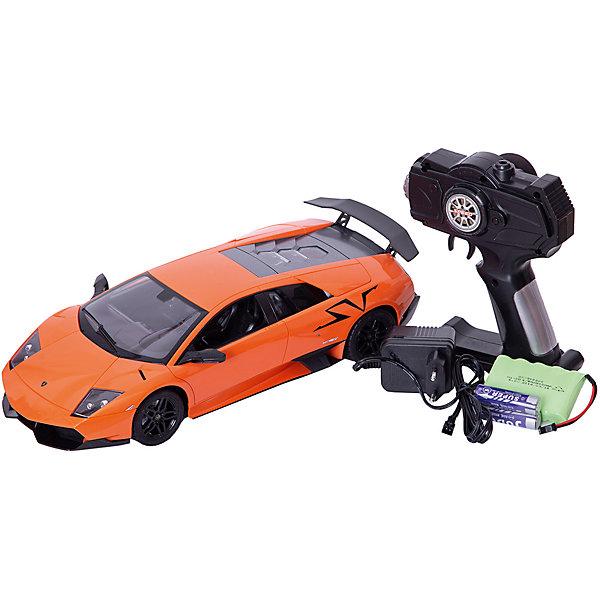 Радиоуправляемая машинка 1toy Top Gear Lamborghini 670 жёлтый, 1:14Радиоуправляемые машины<br>Характеристики:<br><br>• возраст: от 4 лет;<br>• материал: пластик;<br>• масштаб: 1:14;<br>•время работы от аккумулятора: 20-30 минут;<br>• тип батареек: 3 батарейки типа АА;<br>• наличие батареек: не входят в комплект;<br>• вес: 1,5 кг;<br>• размер: 33,8х15,5х8,5 см;<br>• страна бренда: Россия;<br>• бренд: 1Toys.<br><br>Машинка Top Gear Lamborghini на р/у - мечта любого мальчика. Автомобиль ездит во всех направлениях и светит фарами при движении. Управлять машинкой нужно с помощью пульта, который помещается в одной руке. <br><br>Машинка изготовлена из нетоксичной и ударопрочной пластмассы, металла и резины, фары автоматически загораются при движении автомобиля, в комплект входит пульт управления, зарядное устройство и инструкция по эксплуатации<br><br>Машинку Top Gear Lamborghini на р/у можно купить в нашем интернет-магазине.<br>Ширина мм: 460; Глубина мм: 215; Высота мм: 195; Вес г: 1767; Цвет: разноцветный; Возраст от месяцев: 48; Возраст до месяцев: 2147483647; Пол: Унисекс; Возраст: Детский; SKU: 8422543;