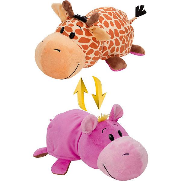 1Toy Мягкая игрушка-вывернушка 1toy Жираф - Бегемот, 40 см цена