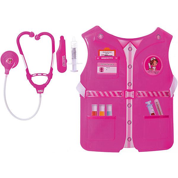 1Toy Игровой набор 1toy Костюм Профи с жилетом Медсестра, 3 предмета