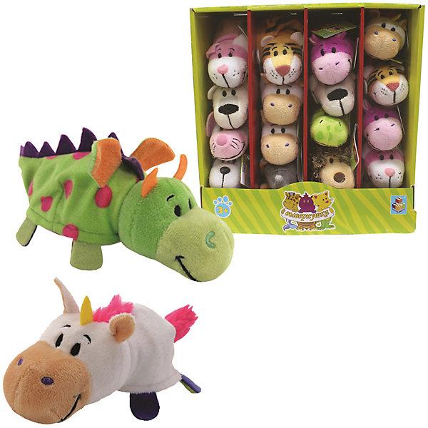 Мягкая игрушка-вывернушка 1toy Единорог - Дракон, 12 см