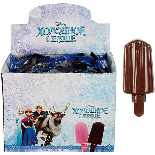 Мыльные пузыри 1toy Disney Холодное сердце 45 мл, с шоколадным ароматомМыльные пузыри<br>Характеристики:<br><br>• возраст: от 5 лет;<br>• материал: пластик, мыльный раствор;<br>• объем: 45 мл;<br>• вес: 73 гр;<br>• размер: 15,5x6х3 см;<br>• страна бренда: Россия;<br>• бренд:  1 TOY.<br><br>Мыльные пузыри эскимо с шоколадным ароматом на палочке Disney «Холодное сердце» порадуют как мальчиков, так и девочек. Чем этот набор понравится детям? Невероятным запахом эксимо, которым полны все красочные пузыри! Ребенок сможет создавать красочные композиции из пузыриков, причем сделать это можно в любом месте! Флакончик с раствором украшен изображениями героев Frozen - поклонники студии Disney будут в восторге!<br><br>Мыльные пузыри эскимо с шоколадным ароматом на палочке Disney «Холодное сердце»  можно купить в нашем интернет-магазине.<br>Ширина мм: 60; Глубина мм: 30; Высота мм: 155; Вес г: 70; Цвет: разноцветный; Возраст от месяцев: 60; Возраст до месяцев: 2147483647; Пол: Унисекс; Возраст: Детский; SKU: 8422601;