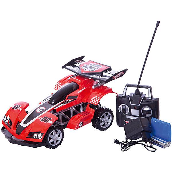Радиоуправляемая машинка 1toy Hot Wheels Багги, краснаяРадиоуправляемые машины<br>Характеристики:<br><br>• возраст: от 5 лет;<br>• материал: пластик, металл;<br> • цвет: красный;<br>• скорость: 17 км/ч;<br>• вес: 1,4 кг;<br>• размер: 49х11х36 см;<br>• страна бренда: Россия;<br>• бренд:  1 TOY.<br><br>Hot Wheels багги на р/у, cо светом, красная приведет в восторг любого мальчика от 5 лет. Выполненная из качественного материала, модель автомобиля позволит погрузиться малышу в головокружительную гонку и является отличным выбором для езды на высокой скорости. Машина довольно легка и удобна в управлении.<br><br>Hot Wheels багги на р/у, cо светом, красная можно купить в нашем интернет-магазине.<br>Ширина мм: 415; Глубина мм: 195; Высота мм: 155; Вес г: 1417; Цвет: красный; Возраст от месяцев: 60; Возраст до месяцев: 2147483647; Пол: Унисекс; Возраст: Детский; SKU: 8422603;