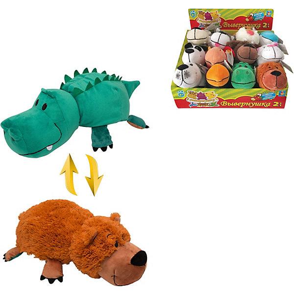 Купить Мягкая игрушка-вывернушка 1toy Аллигатор - Медвежонок, 20 см, Китай, разноцветный, Унисекс
