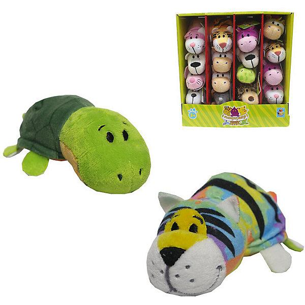 1Toy Мягкая игрушка-вывернушка 1toy Радужный тигр - Черепаха, 12 см мягкие игрушки 1toy вывернушка тигр черепаха