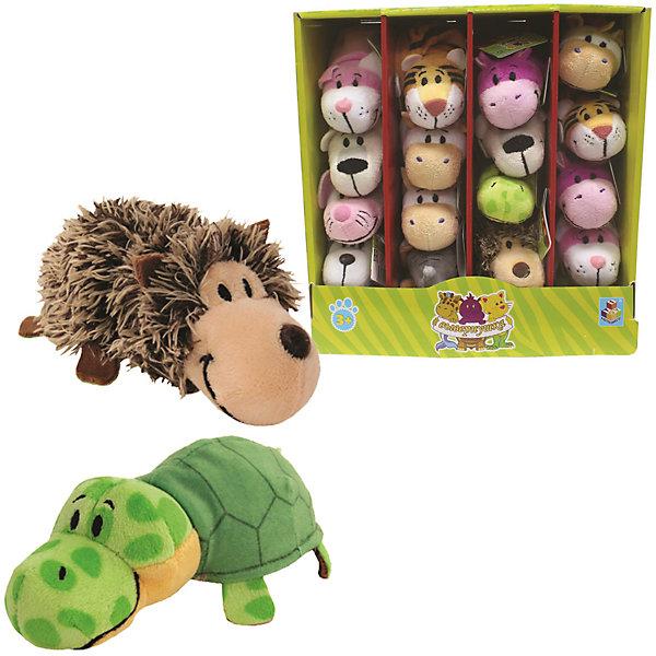 1Toy Мягкая игрушка-вывернушка 1toy Ёжик - Черепаха, 12 см вывернушка еж черепаха 1toy еж черепаха наполнитель плюш пластик 12 см