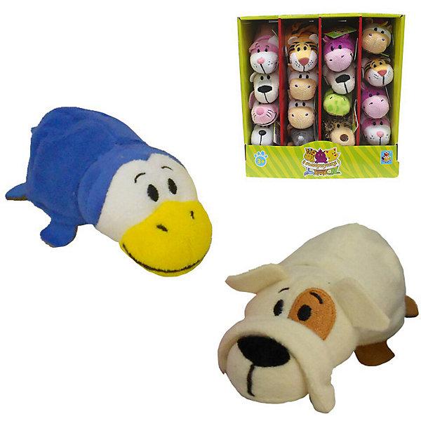 1Toy Мягкая игрушка-вывернушка 1toy Бульдог-Пингвин, 12 см мягкая игрушка бульдог 18 см