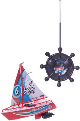 Радиоуправляемая яхта 1toy с парусом, 25 см, артикул:8422637 - Радиоуправляемые игрушки