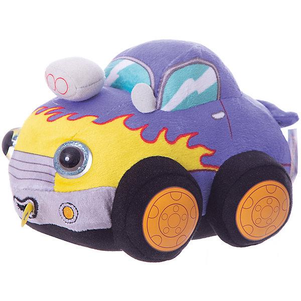 1Toy Мягкая игрушка 1toy Дразнюка-Биби Автомобильчик, 15 см, свет, звук
