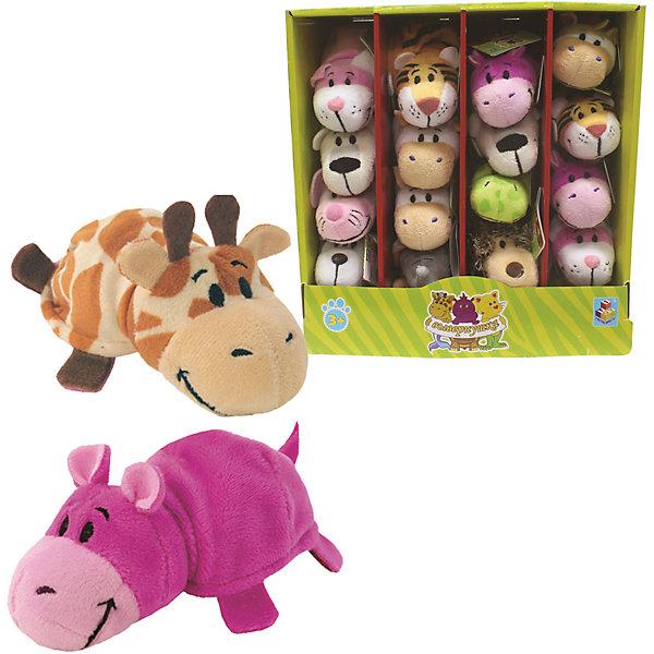 1Toy Мягкая игрушка-вывернушка 1toy Жираф - Бегемот, 12 см цена