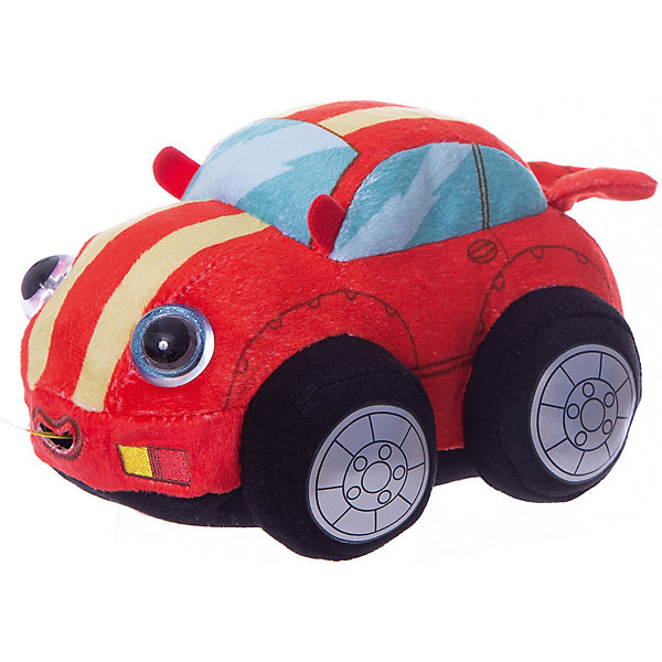 1Toy Мягкая игрушка 1toy Дразнюка-Биби Машинка, 15 см, свет, звук