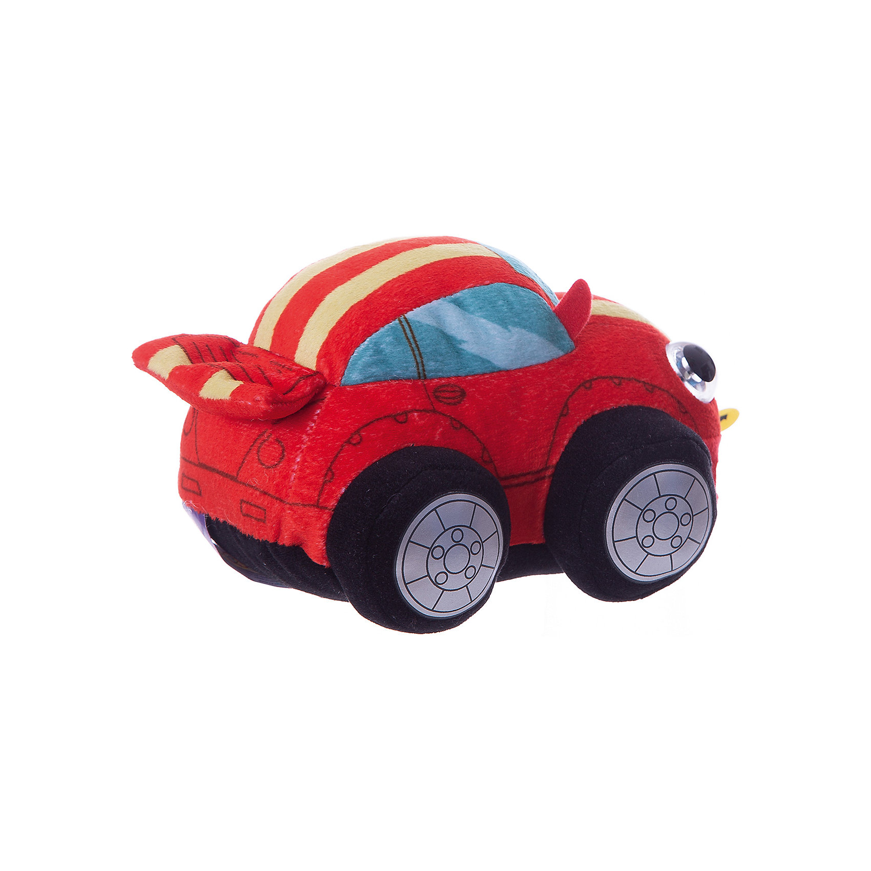 "Мягкая игрушка 1toy ""Дразнюка-Биби"" Машинка, 15 см, свет, звук"