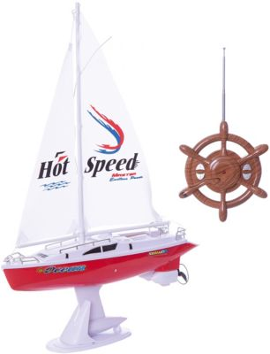 Радиоуправляемая яхта 1toy с парусом, 38 см, артикул:8422683 - Радиоуправляемые игрушки