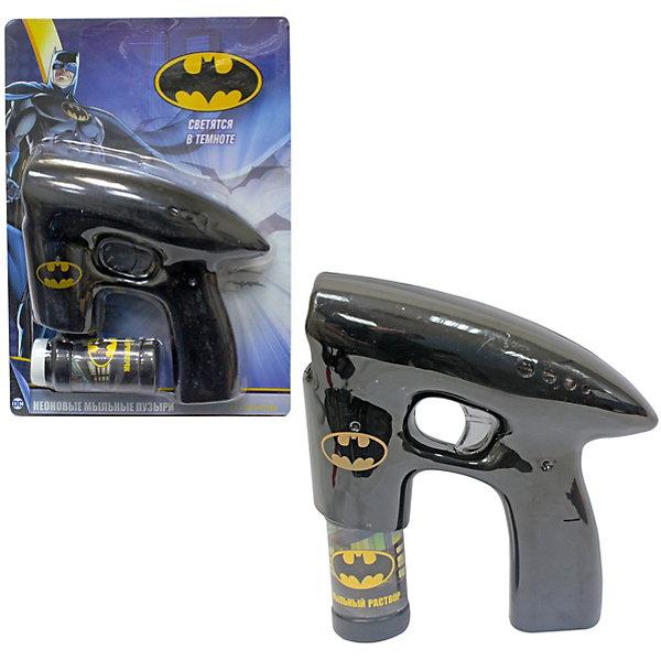 Мыльные пузыри с пистолетом 1toy Batman 45 мл, светится в темнотеМыльные пузыри<br>Характеристики:<br><br>• возраст: от 5 лет;<br>• материал: пластик, мыльный раствор;<br>• вес: 342 гр;<br>• размер: 20,5х22х6,5 см;<br>• страна бренда: Россия;<br>• бренд:  1 TOY.<br><br>Мыльный пистолет Batman 1Toy для детей старше 5 лет.  Пистолет для пускания мыльных пузырей в виде оружия Бэтмена. Работает от батареек. Благодаря яркому встроенному диоду, мыльные пузыри, вылетающие из пистолета, светятся в темноте. Объём мыльного раствора 45мл.<br><br>Мыльный пистолет Batman 1Toy можно купить в нашем интернет-магазине.<br>Ширина мм: 10; Глубина мм: 295; Высота мм: 65; Вес г: 342; Цвет: разноцветный; Возраст от месяцев: 36; Возраст до месяцев: 2147483647; Пол: Унисекс; Возраст: Детский; SKU: 8422719;