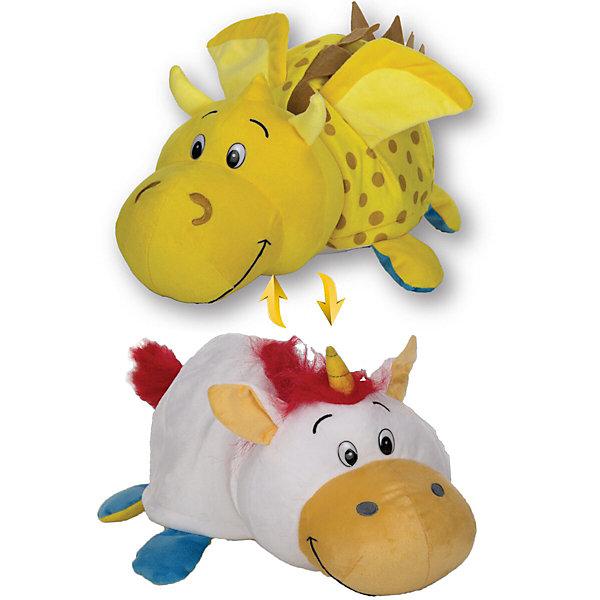 Мягкая игрушка-вывернушка 1toy Золотой дракон - Единорог, 40 смМягкие игрушки животные<br>Характеристики:<br><br>• возраст: от 3 лет;<br>• материал: холлофайбер;<br>• размер: 40 см;<br>• вес: 538 гр;<br>• размер: 22х45х22 см;<br>• страна бренда: Россия;<br>• бренд:  1 TOY.<br><br>Игрушка вывернушка 40 см 2в1 Золотой дракон-Единорог-  это мягкие игрушки-зверушки, которые лёгким выворачивающим движением превращаются из одного зверька в другого. Таким образом, покупая одну игрушку - вы получаете две.<br><br>Игрушку вывернушку 40 см 2в1 Золотой дракон-Единорог можно купить в нашем интернет-магазине.<br>Ширина мм: 460; Глубина мм: 230; Высота мм: 160; Вес г: 538; Цвет: разноцветный; Возраст от месяцев: 36; Возраст до месяцев: 2147483647; Пол: Унисекс; Возраст: Детский; SKU: 8422729;