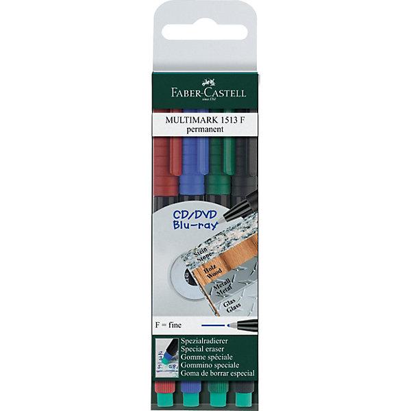Faber-Castell Капиллярная перманентная ручка Faber-Castell «Multimark» для письна на СD, 4 шт