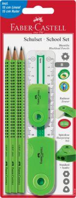 Специальный набор с карандашами Faber-Castell «Grip 2001», зеленый, артикул:8424181 - Школьная канцелярия