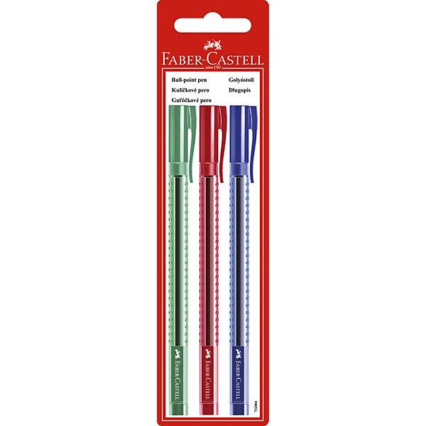 Faber-Castell Шариковая ручка Faber-Castell «GRIP 2020», 3 шт шариковая ручка faber castell grip 2011 чернила синие корпус черный металлик 144187