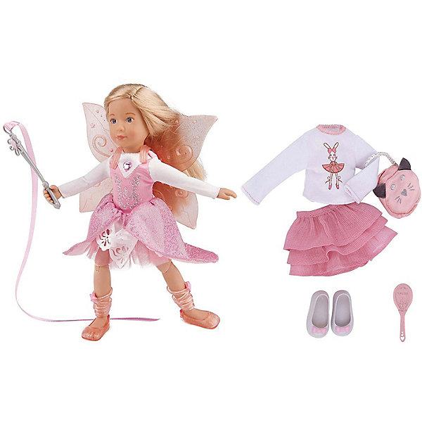 Кукла Kruselings Вера, делюкс наборКуклы<br>Характеристики товара:<br><br>• возраст: от 3 лет;<br>• материал: пластик, текстиль;<br>• в комплекте: кукла, магическое платье, балетки, крылья, гимнастическая лента, юбка, кофточка, туфли, сумочка, расческа;<br>• высота куклы: 23 см;<br>• размер упаковки: 45х31х32 см;<br>• вес упаковки: 390 гр.<br><br>Кукла Kruselings «Вера» делюкс набор — очаровательная девочка с длинными светлыми волосами и выразительными голубыми глазками. В набор входят 2 комплекта одежды: сказочное розовое платье с крылышками и повседневный комплект. У куклы вставные акриловые глаза, мягкие волосы, которые можно расчесывать, и целых 13 точек артикуляции.<br><br>Куклу Kruselings «Вера» делюкс набор можно приобрести в нашем интернет-магазине.<br>Ширина мм: 45; Глубина мм: 31; Высота мм: 45; Вес г: 390; Цвет: разноцветный; Возраст от месяцев: 36; Возраст до месяцев: 2147483647; Пол: Женский; Возраст: Детский; SKU: 8424280;