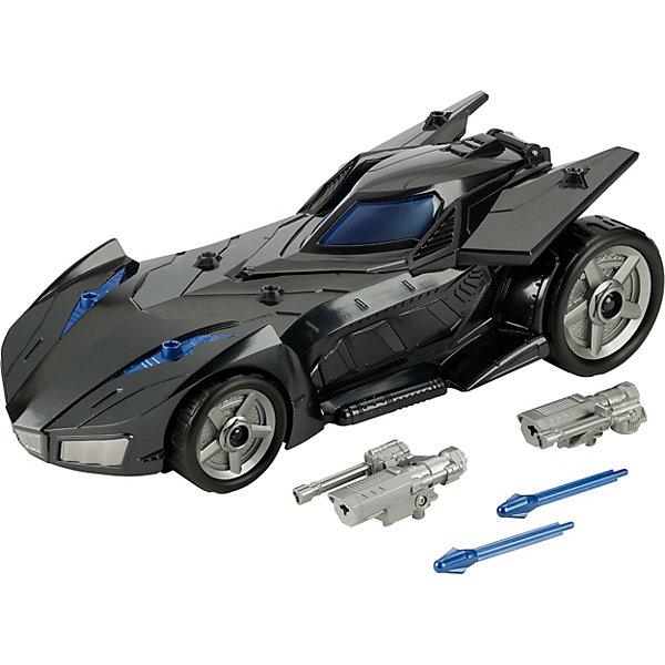 Машинка для фигурок Batman Миссия Бэтмена Бэтмобиль с ракетной установкойГерои комиксов<br>Характеристики товара:<br><br>• материал: пластик<br>• в комплекте: автомобиль, оружие<br>• подходит для фигурок высотой 30 см<br>• упаковка: картонная коробка открытого типа <br>• страна бренда: США<br><br>К машинке прилагается оружие, которое устанавливается в специальные слоты на автомобиле. Люк открывается, внутрь можно поместить фигурку Бэтмена или другого персонажа, продаются отдельно. Развивает воображение и мелкую моторику.