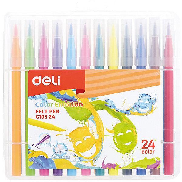 Фломастеры Deli Color Emotion, 24 цветаФломастеры<br>Характеристики товара:<br><br>• возраст: от 3 лет;<br>• в комплекте: 24 разноцветных фломастера;<br>• размер упаковки: 15х20х3 см;<br>• вес упаковки: 300 гр;<br>• страна производитель: Китай.<br><br>Цветные фломастеры  Deli Color Emotion используются для детского творчества <br><br>Продукция изготовлена из экологически чистых материалов и легко смывается с одежды и рук.<br><br>Фломастеры Deli Color Emotion можно купить в нашем интернет-магазине.<br>Ширина мм: 150; Глубина мм: 200; Высота мм: 28; Вес г: 300; Цвет: разноцветный; Возраст от месяцев: 36; Возраст до месяцев: 144; Пол: Унисекс; Возраст: Детский; SKU: 8425298;