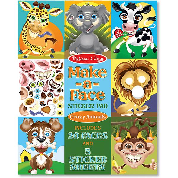 Melissa & Doug Набор стикеров Melissa & Doug Создай смешную мордочку животного набор наклеек melissa
