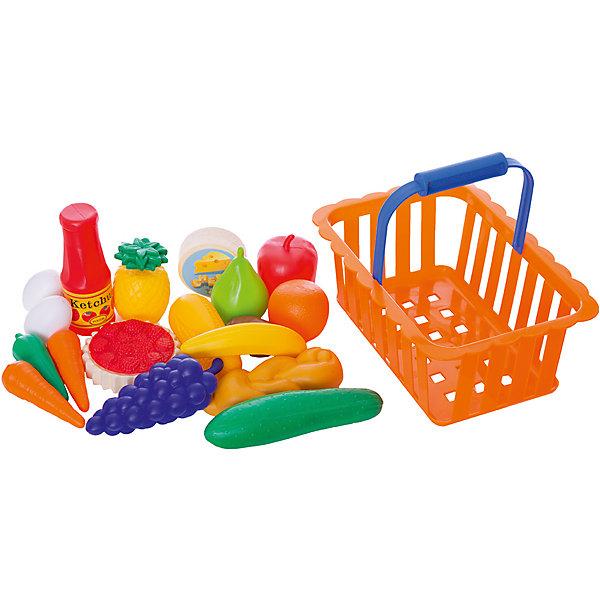 Dohany Игровой набор Dohany Овощи и фрукты в большой корзине, посуда и наборы продуктов спектр игровой набор спектр фрукты и овощи