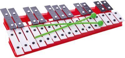 Металлофон Marek 27 тонов, красный, артикул:8430926 - Детские музыкальные инструменты
