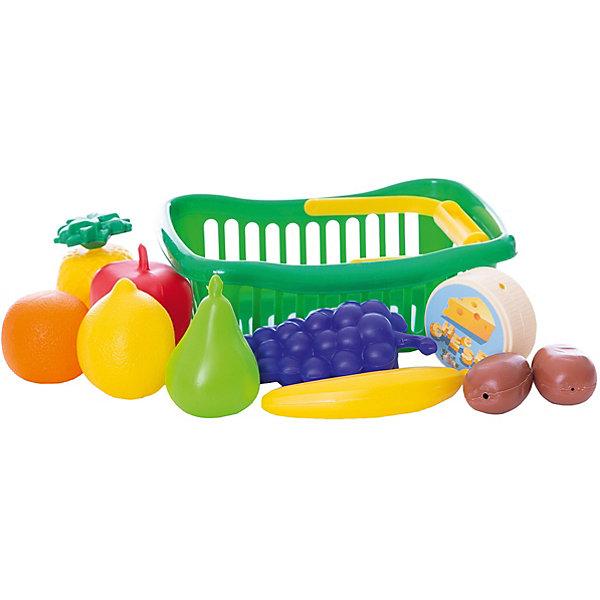 Игровой набор Dohany Овощи и фрукты в малой корзине, зелёныйИгрушечные продукты питания<br>Характеристики:<br><br>• возраст: от 3 лет;<br>• цвет: зеленый;<br>• материал: пластик;<br>• вес: 90 гр;<br>• размер: 23x16х10  см;<br>• страна бренда: Венгрия;<br>• бренд:  DOHANY.<br><br>Набор овощи+фрукты в корзине малая DOHANY-это прекрасный подарок для ребенка. Набор придется по душе маленьким хозяйкам. Набор поможет ребенку узнать названия фруктов и овощей, развить фантазию и воображение а так же станет хорошим дополнением к игрушечной кухне. Девочкам понравится использовать фрукты и овощи для сервировки стола, а так же для игры в «магазин». Игрушка изготовлена  из высококачественного, экологически безопасного пластика, соответствующего всем стандартам, санитарным требованиям и нормам, предъявляемым к продукции детского назначения.<br> <br>Набор овощи+фрукты в корзине малая DOHANY можно купить в нашем интернет-магазине.<br>Ширина мм: 230; Глубина мм: 160; Высота мм: 100; Вес г: 90; Цвет: зеленый; Возраст от месяцев: 36; Возраст до месяцев: 2147483647; Пол: Унисекс; Возраст: Детский; SKU: 8430944;
