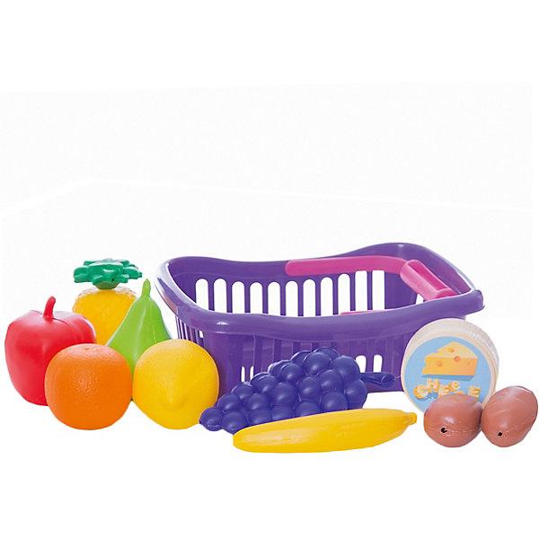 Dohany Игровой набор Овощи и фрукты в малой корзине,